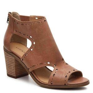 NWOT Lucky Brand | Kikah wedge sandal black 9.5